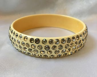 Celluloid Rhinestone Bangle Vintage