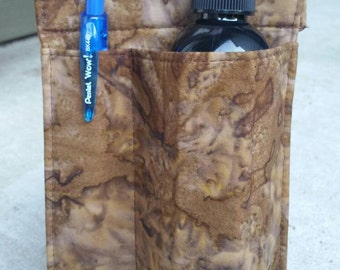 Massage therapy single 8oz bottle RIGHT hip holster, camo batik