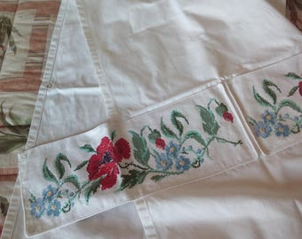 Floral Embroidery Home Apron