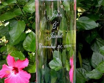 Personalized Wedding Floating Unity Candle and Vase