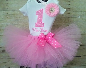 Pink 1st Birthday Tutu Outfit