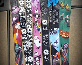 The nightmare before Christmas inspired lanyards