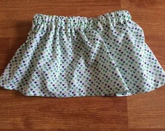 Baby girl St Patricks day skirt  Four leaf clovers  St patricks skirt shamrock