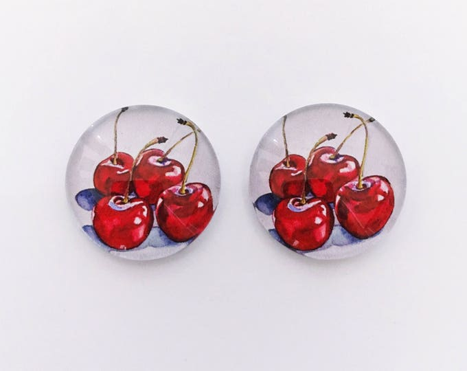 The 'Cherry Bomb' Glass Earring Studs