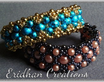 Double-layered beaded bracelet  - tutorial