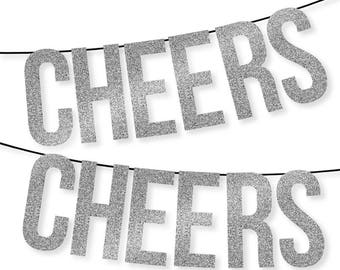 Silver Glitter Banner – Instant Download Printables – Includes Entire Alphabet, Numbers & more – Pennant – Bunting – Garland – Holiday Decor