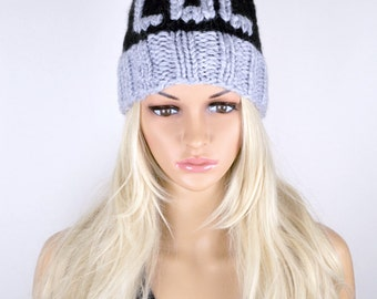 LOL Beanie Hat, Winter Hat, Knit Hat, Pom Pom Hat, Pom Pom Beanie, Fall Hat, Fashion Beanie Hat, Beanie Hat, 2 Colours Hat