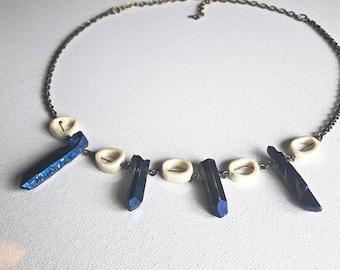 Aura Quartz & Bones Necklace