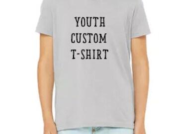 Youth Custom T-shirt - Short sleeved youth T-shirt - Kids Vacation T-shirt - Kids Birthday T-shirt - Kids Clothing - Kids Shirt - Youth