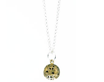 Ball pendant and silver chain