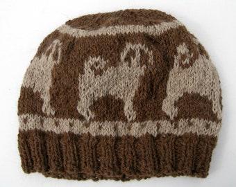 Fair Isle bonnet tricoté avec roquets
