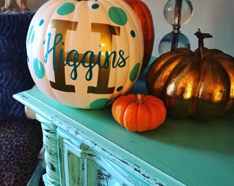 Custom decorated pumpkins