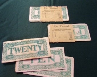 Rare Vintage SS Adams Co. Play Money Sets