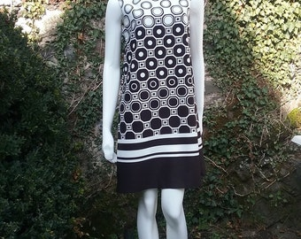 New modern patterned Jersey dress. Daily dress, Party dress, Coctail dress, Casual dress, Loose and comfortible summer dress.Balck and white