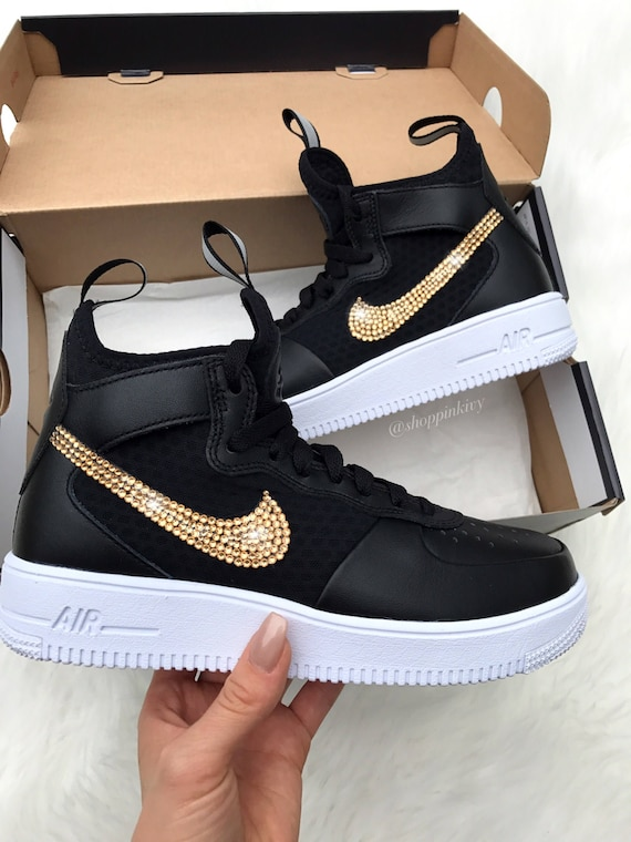 Blinged Ultraforce Out Nike 1 Air Shoes Nike Bling Force Women's Swarovski Crystals Swarovski Shoes With gw1Iq0Hx08