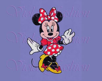 Minnie Mouse embroidery design 4x4 5x7 pes hus jef vp3 xxx vip exp dst