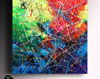 Art Painting Abstract Painting Original Painting Modern Textured Painting Acrylic  Wall Art Custom Painting bright contemporary painting