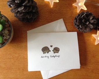 Sending Hedgehugs - Greeting Card