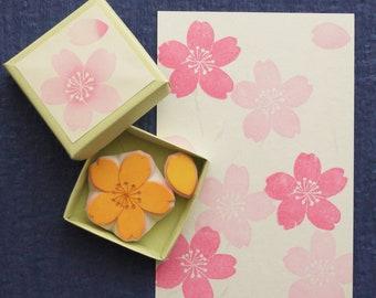 Cherry Blossom Rubber Stamp
