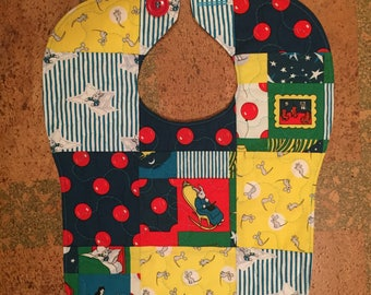 Goodnight Moon quilted bib
