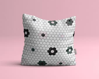 Pillow cover • marble flowers
