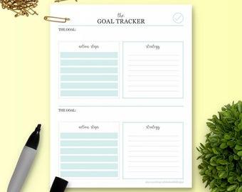 The Goal Tracker - Single Insert - The Ultimate Planner