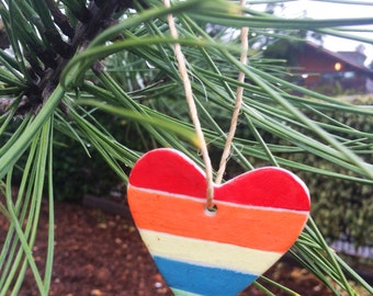 Heart Ceramic Christmas Ornament