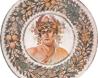 Greek God Mosaic Portrait