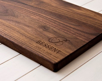 Anniversary Gift Personalized cutting board, custom cutting board, couple cutting board, housewarming gift wedding gift - 010