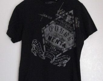 GUESS Black Cotton Graphic T-Shirt Size Medium