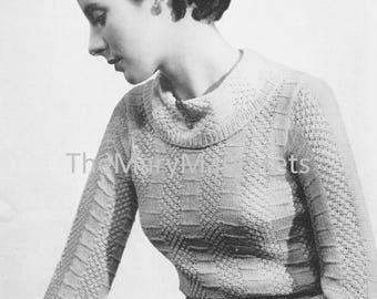 1930s Jumper Knitting Pattern