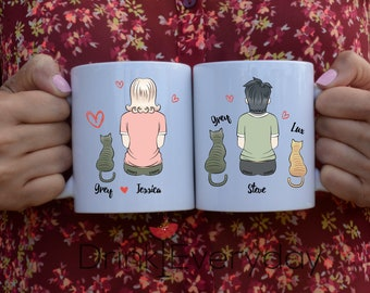Cat Mug, Cat Mom, Crazy Cat Lady. Personalized, Cat Lover, Gift Idea, Pet Lover, I Love Cats