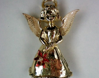 Gerry's Christmas / Holiday Angel with Poinsettia Flower - 4161