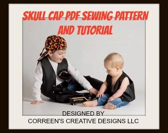 Skull Cap Do-Rag Sewing Pattern, Sewing tutorial, doorag pattern, welding cap pattern, pdf pattern
