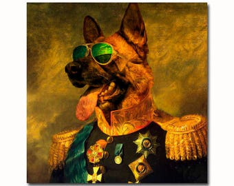 Custom Pet Portrait, funny dog portrait, royal Pet Portrait, Military uniform, regal pet portrait, Regal military, custom pet portraits