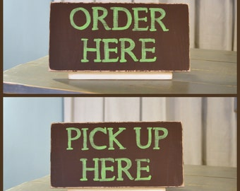 Preferred Pick up here sign | Etsy QT33