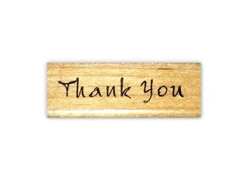 Thank you - mounted rubber stamp by Sweet Grass Stamps #1