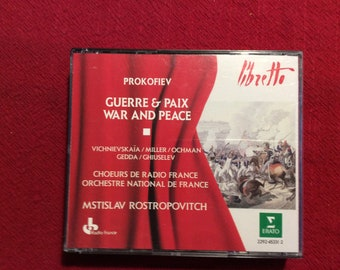Prokofiev, War and Peace Cd Set, 1988 Edition