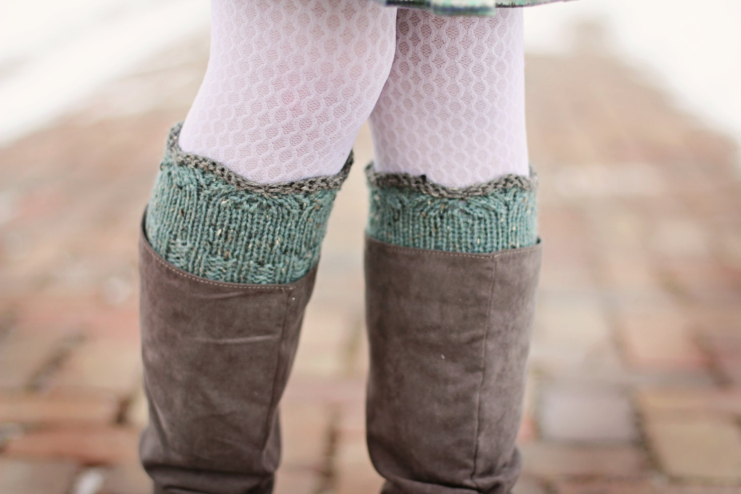 Gracie Boot Cuffs Knitting PATTERN, One Skein Knits, Leg Warmers ...