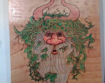 Green man of the forest