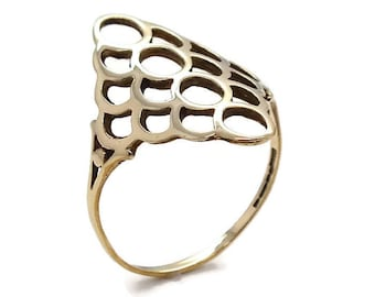 Gold Large Filigree Ring, Womens Rings, Womens Jewellery, Womens Ring, Gold Rings Women, Womens Gold Rings, Women's Filigree Ring Gold