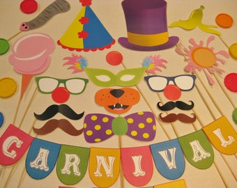 PDF - Circus / Carnival photo booth props/decorations/craft - printable DIY