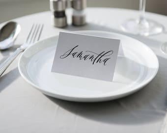 Wedding Place Cards | Wedding Calligraphy | Wedding Guest Cards | Hand Lettered Tent Cards