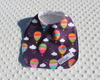 Purple Hot Air Balloons Bib