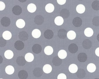"End of Bolt 1 Yard 15.5"" of Color Theory Dots Grey by V and Co for Moda"