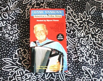 """Frank Yankovic Americas Polka King VHS. Funny 90s Trash VHS About The """"Polka King"""" Feat. Weird Al Yancovic Interviews"""