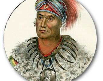 Native American Indian Prints Bottle Beer Cap 1 inch Round Circle image Digital Collage Sheet