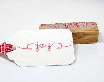 Joy  Olive Wood Stamp