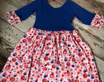 Litlle Girls Easter Bunny Knit Dress