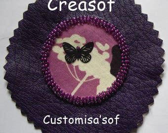 Customisa'sof plum, and purple material for customization